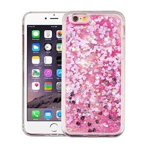 iPhone 6 6Plus Glitter Hearts Phone Case